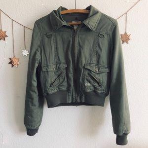 O'neil Olive Green Bomber Jacket